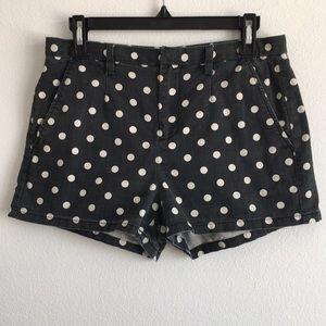 MADEWELL Black & White Polka Dot Shorts